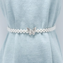 Belt / belt / chain Metal female Waist chain Sweet Single loop Youth a hook Diamond inlay Glossy surface 2cm alloy Naked Beaded Poetic beauty 65cm 75cm Spring and summer 2011