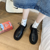 Low top shoes 35 36 37 38 39 Snow shadow floating Round head PU Thick heel Low heel (1-3cm) Deep mouth PU Autumn 2020 Frenulum Korean version Adhesive shoes Youth (18-40 years old) Solid color rubber Single shoes PU leisure time Face dressing Pure e-commerce (online only)