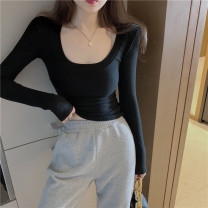 Wool knitwear Spring 2021 S M L White black grey Long sleeves singleton  Socket other More than 95% have cash less than that is registered in the accounts routine commute Self cultivation Low crew neck routine Solid color Socket Korean version 1112(1)# 18-24 years old Jingmeiya Other 100%