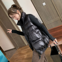 Vest Winter of 2019 Black Silver S M L have cash less than that is registered in the accounts stand collar commute Solid color zipper 10.21 W2186 I-shaped Medillo 96% and above other Pocket zipper Other 100% Same model in shopping mall (sold online and offline)
