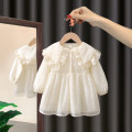 Dress Beige female Morning talk 80cm 90cm 100cm 110cm 120cm Other 100% spring and autumn Korean version Petticoat Solid color other Shirt skirt ELY08 Class A Spring 2021 12 months, 6 months, 9 months, 18 months, 2 years, 3 years, 4 years, 5 years, 6 years