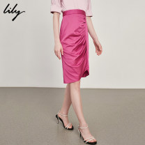skirt Summer of 2018 XS S M L XL 113 purplish red Mid length dress commute High waist Solid color Type O 25-29 years old 118240C6542 31% (inclusive) - 50% (inclusive) other Lily / Lily nylon Ol style Lyocell fiber (Lyocell) 53.8% polyamide fiber (nylon) 42.2% polyurethane elastic fiber (spandex) 4%