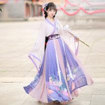 Hanfu 81% (inclusive) - 90% (inclusive) [violet] Jin system S M L XL polyester fiber