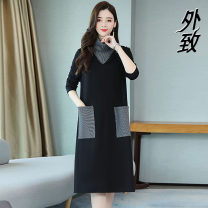 Dress Autumn 2020 Picture color L XL 2XL 3XL 4XL 5XL longuette singleton  Long sleeves 40-49 years old External 5882#LI\\\] More than 95% other Other 100% Pure e-commerce (online only)