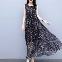 Women's large Summer 2021 9887 black 1016 # white 1016 # black S M L XL 2XL 3XL 4XL Dress singleton  commute easy moderate Socket Short sleeve Korean version Crew neck Three dimensional cutting routine 9887-DL*-*//-/- External 35-39 years old longuette Other 100% Pure e-commerce (online only) other
