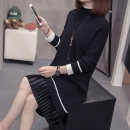 Women's large Autumn 2020 Apricot black XL [recommended 100-125 kg] 2XL [recommended 125-150 kg] 3XL [recommended 150-175 kg] 4XL [recommended 175-200 kg] sweater singleton  commute Straight cylinder moderate Socket Long sleeves Solid color Half high collar Medium length routine QCST63612 Other 100%