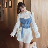 Fashion suit Spring 2021 S M L Picture color collection plus purchase priority delivery 18-25 years old Jinggang classic R12.20 Triacetate fiber (triacetate fiber) 100%