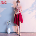 Dress / evening wear Rose yarn Other 100% Pure e-commerce (online sales only) Weddings, adulthood parties, company annual meetings, daily appointments Medium and long term Self cultivation Summer of 2019 Korean version middle-waisted One shoulder zipper MGS19140 18-25 years old Sleeve wrapping other