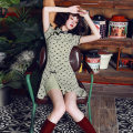 cheongsam Autumn of 2019 S M L XL XXL love Short sleeve Short cheongsam Retro High slit daily Oblique lapel Decor 18-25 years old Piping YQK0006 Yu Qingke other Other 100% Pure e-commerce (online only)