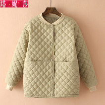 Women's large Winter of 2018 cotton-padded clothes singleton  commute easy thick Cardigan Long sleeves Solid color Korean version routine Three dimensional cutting Tanissa 25-29 years old Polyester 100% Pure e-commerce (online only)