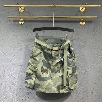 skirt Summer 2020 S M L XL XXL Camouflage green Short skirt Versatile High waist skirt other Type A More than 95% Denim Handily other Pocket make old button zipper Other 100% Pure e-commerce (online only)