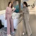 Women's large Winter 2020 M [recommended 85-100 Jin] l [recommended 100-120 Jin] XL [recommended 120-135 Jin] 2XL [135-150 Jin recommended] 3XL [150-165 Jin recommended] 4XL [165-180 Jin recommended] Other oversize styles Two piece set commute easy moderate Socket Long sleeves Solid color High collar