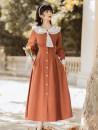Dress Autumn 2021 Picture color S,M,L,XL commute Retro
