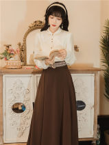 Dress Spring 2021 Picture color [with belt] S,M,L,XL