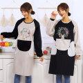 apron Sleeve apron waterproof Korean version PVC Household cleaning Average size public yes Idyllic