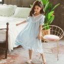 Home skirt / Nightgown Fruit shell monkey 110cm 120cm 130cm 140cm 150cm 160cm Cotton 100% White Pink Blue Long Sleeve 2003 white suit 2053 blue suit 2053 summer female Home Class B Pure cotton (100% cotton content) Z2049 Summer 2021
