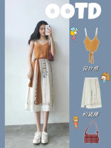 Women's large Summer 2021 Suspender skirt S M L XL Dress Two piece set commute Socket Sleeveless Korean version routine polyester fiber Summer explosion dian001 Gu Jiafu 18-24 years old 81% (inclusive) - 90% (inclusive) longuette Cotton 100% Pure e-commerce (online only)