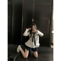 Square Dance Dress S,M,L,XL White shirt (with tie), single skirt, white shirt + skirt (with tie) other Long sleeves Self cultivation female bow