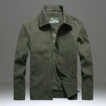 Jacket Pilots Fashion City 9919 army green 9919 Khaki 9919 dark blue M L XL 2XL 3XL 4XL routine easy Other leisure spring .9919. Cotton 100% Long sleeves Wear out Lapel Business Casual middle age routine Zipper placket Cloth hem Closing sleeve Solid color Spring of 2019 Side seam pocket cotton