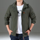Jacket Pilots Fashion City M L XL 2XL 3XL 4XL routine easy Other leisure autumn Polyamide fiber (nylon) 100% Long sleeves Wear out Hood Basic public middle age routine Zipper placket Straight hem Closing sleeve Solid color Autumn of 2018 More than two bags) Zipper bag nylon More than 95%