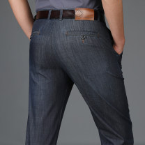 Jeans Fashion City Teng Pai 29 30 31 32 33 34 35 36 37 38 40 42 1808-1 black 1808-2 blue 2803 black 2803 blue Thin money No bullet Regular denim l8O8. trousers Cotton 66.2% regenerated cellulose 19.8% polyester 14% spring youth middle-waisted Loose straight tube Youthful vigor 2018 Straight foot