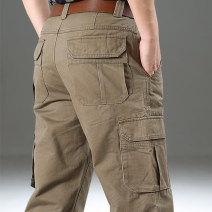 Casual pants Pilots Fashion City 30 31 32 33 34 35 36 38 40 42 44 thick trousers Other leisure easy No bullet .55O8. autumn youth Basic public 2020 middle-waisted Straight cylinder Cotton 100% Overalls Pocket decoration washing Solid color cotton Autumn of 2018 More than 95%