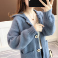 Wool knitwear Autumn of 2019 Average size Fruit green, khaki pink, scarlet blue Long sleeves singleton  Cardigan nylon 30% and below Regular routine commute easy other routine Solid color Single breasted Korean version acy19531 18-24 years old Ann Choi Yin Pocket screw button
