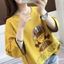 T-shirt Average size Summer of 2019 Short sleeve Crew neck easy Regular routine commute cotton 96% and above 18-24 years old Korean version youth Animation letter solid color Ann Choi Yin Cotton 100% Pure e-commerce (online only)