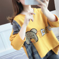 T-shirt Average size Autumn of 2019 Long sleeves easy Regular routine commute other 96% and above 18-24 years old Korean version Cartoon animation Ann Choi Yin Other 100% Pure e-commerce (online only)