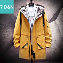 Jacket Seven days and seven nights Youth fashion M L XL XXL XXXL XXXXL ordinary Syncytial type Other leisure autumn Other 100% Long sleeves Wear out No collar Medium length Regular sleeve Autumn 2020 More than two bags) Three dimensional bag