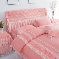 Bedding Set / four piece set / multi piece set Others Embroidery, other Solid color Chinese parasol Others 4 pieces other Rose red, purple, Matcha green, jade, light pink, medium pink 1.2m (4 feet) bed, 1.5m (5 feet) bed, 1.8m (6 feet) bed, 2.0m (6.6 feet) bed, 1.8 * 2.2m bed Bed skirt Korean style