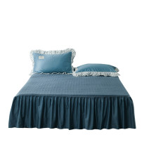 Bed skirt 120x200cm bed skirt, 150x200cm bed skirt, 180x200cm bed skirt, 200x220cm bed skirt, 120x200cm bed skirt + pillow case, 150x200cm bed skirt + pillow case, 180x200cm bed skirt + pillow case, 200x220cm bed skirt + pillow case cotton Other / other Solid color Qualified products wyc2019ws