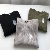 T-shirt / sweater Kitano u house Youth fashion Black, light grey, army green S,M,L,XL Socket Crew neck Long sleeves
