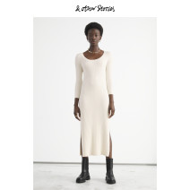 Dress Spring 2021 Cream 165/88A 160/80A 170/96A 175/104A longuette singleton  Long sleeves commute Crew neck Socket 25-29 years old &OTHER STORIES Simplicity 30% and below nylon Viscose (viscose) 90% polyamide (nylon) 10% Same model in shopping mall (sold online and offline)