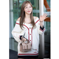 sweater Autumn of 2019 XS S M Long sleeves Cardigan Two piece set Regular other 95% and above V-neck Regular Regular wool 18-24 years old Other 100% Pure e-commerce (online only)