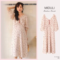Dress Shu Shibu M L XL Versatile Long sleeves have more cash than can be accounted for spring Decor