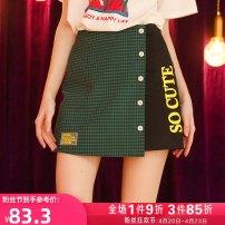 skirt Summer 2020 S M L black Short skirt Versatile High waist A-line skirt lattice Type A 18-24 years old More than 95% other Kuhnmarvin / kuenmavi cotton Three dimensional decorative printing Cotton 97.4% polyurethane elastic fiber (spandex) 2.6% Pure e-commerce (online only)