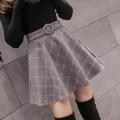 skirt Autumn 2020 S M L XL 2XL Short skirt commute High waist A-line skirt lattice Type A 18-24 years old More than 95% Wool Weicaiman other Korean version Other 100% Pure e-commerce (online only)