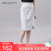 skirt Summer 2020 155/62A 155/64A 160/66A 160/68A 165/72A Middle-skirt grace Natural waist skirt Solid color Type H 25-29 years old More than 95% other Me&City polyester fiber zipper Polyester 100% Same model in shopping mall (sold online and offline)