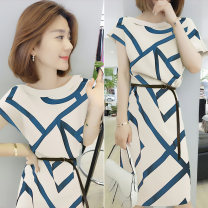 Dress Summer of 2019 S M L XL Mid length dress singleton  Short sleeve street 30-34 years old Concubine B192y05274p0101 81% (inclusive) - 90% (inclusive) polyester fiber Polyester 85% polyurethane elastic fiber (spandex) 15% Pure e-commerce (online only) Europe and America