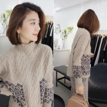 sweater Winter of 2019 S M Camel Long sleeves Socket singleton  Regular polyester fiber 81% (inclusive) - 90% (inclusive) Half high collar Regular street routine 30-34 years old Concubine Polyester 85% polyamide 15% Pure e-commerce (online only)