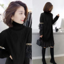 Dress Winter of 2019 Black black 1 S M L Mid length dress singleton  Long sleeves street High collar Loose waist Socket routine Others 30-34 years old Concubine 81% (inclusive) - 90% (inclusive) polyester fiber Polyester 85% polyamide 15% Pure e-commerce (online only) Europe and America