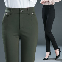 Casual pants 27 28 29 30 31 32 33 34 35 Spring 2020 trousers Straight pants High waist Versatile routine 31% (inclusive) - 50% (inclusive) X5063 nylon pocket nylon Pure e-commerce (online only)