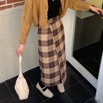 skirt Winter 2020 M L XL 2XL 3XL 4XL Yellow check black and white check Mid length dress commute High waist A-line skirt lattice 18-24 years old 11333#-5 71% (inclusive) - 80% (inclusive) Xi Xixuan cotton Korean version Cotton 74.9% polyester 22.4% viscose 1.8% polyurethane elastic 0.9%