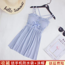 Split swimsuit Other brands Light blue, black 2 S (recommended 80-90 kg), m (recommended 90-100 kg), l (recommended 100-110 kg), XL (recommended 110-120 kg) Skirt split swimsuit With chest pad without steel support Spandex, polyester, others
