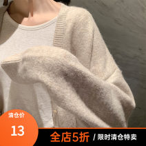 Women's large Autumn of 2019 Black Beige Caramel Big XL big XXL big XXL big L T-shirt singleton  street easy moderate Socket Long sleeves Crew neck routine routine SY916975 Little worms Flax 55% viscose 45% Europe and America