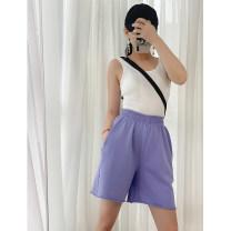 Casual pants M L XL XXL Summer 2020 Pant Straight pants Natural waist Cotton 100%
