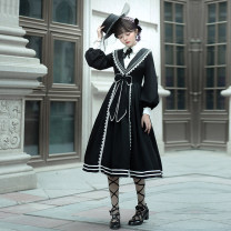 Hanfu 96% and above Spring 2021 OP skirt + bow neck S M L XL 2XL 3XL polyester fiber