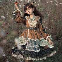 Dress Winter 2020 Full set (OP skirt + belt) S M L XL XXL XXXL Mid length dress Long sleeves Sweet Double collar middle-waisted Solid color Socket other shirt sleeve 18-24 years old Type X Spring lovers S20J200025 More than 95% other polyester fiber Polyester 100% Countryside