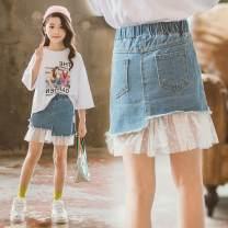 Parent child fashion Zionoabear / zhinaixiong female Women's dress 593834422188 summer Korean version Thin money Solid color skirt Denim Average size 593834422188 Class B Polyester 100% Chinese Mainland Zhejiang Province Wenzhou City 170 100(7) 110(9) 120(11) 130(13) 140(15) 150(17) 160(19)